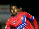 Joss Labadie during the Johnstone's Paint Trophy Southern Section Second Round match between Dagenham & Redbridge and Leyton Orient at The Victoria Road Stadium on October 07, 2014