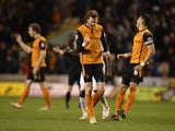 Richard Stearman of Wolves celebrates victory after the Sky Bet Championship match between Wolverhampton Wanderers and Derby County at Molineux on March 20, 2015