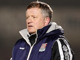 Northampton Town manager Chris Wilder looks on during the Sky Bet League Two match between Northampton Town and Carlisle United at Sixfields Stadium on March 17, 2015