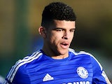 Dominic Solanke of Chelsea in action during the UEFA Youth League Quarter Final match between Chelsea and Atletico Madrid at Chelsea Training Ground on March 10, 2015