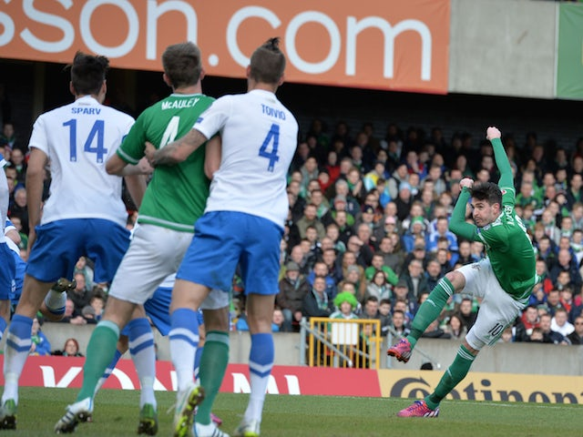 Result: Lafferty scores twice in Northern Ireland win