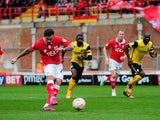 Marlon Pack of Bristol City scores his side's opening goal from the penalty spot during the Sky Bet League One match between Bristol City and Barnsley at Ashton Gate on March 28, 2015