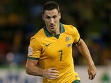 Mathew Leckie of Australia in action during the Asian Cup Semi Final match between the Australian Socceroos and the United Arab Emirates at Hunter Stadium on January 27, 2015