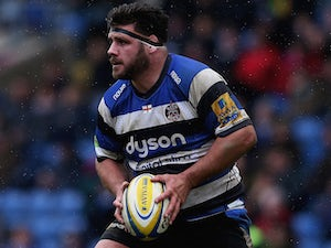 Rob Webber of Bath in action during the Aviva Premiership match between London Welsh and Bath Rugby at Kassam Stadium on March 29, 2015