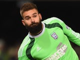 Bartosz Bialkowski for Ipswich Town on January 14, 2015