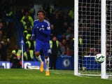 Loic Remy of Chelsea scores his team's second goal during the Barclays Premier League match between Chelsea and Stoke City at Stamford Bridge on April 4, 2015