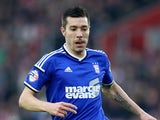 Darren Ambrose for Ipswich Town on January 4, 2015