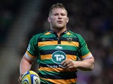 Dylan Hartley of Northampton Saints during the Aviva Premiership match between Northampton Saints and Wasps at Franklin's Gardens on March 27, 2015
