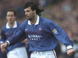 Marco Negri of Rangers in action during the Scottish FA Premier Leauge match against Celtic on January 2, 1998