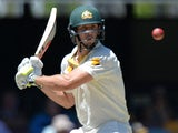 Mitchell Marsh of Australia bats during day three of the 2nd Test match between Australia and India at The Gabba on December 19, 2014