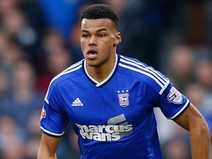 Tyrone Mings for Ipswich Town on February 14, 2015