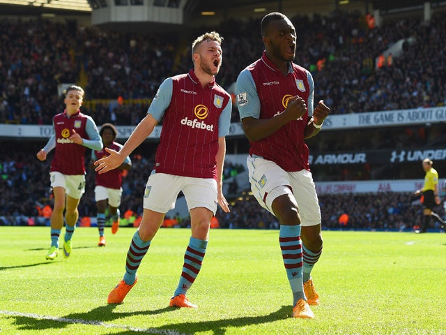 Result: 10-man Villa hold on to beat Spurs