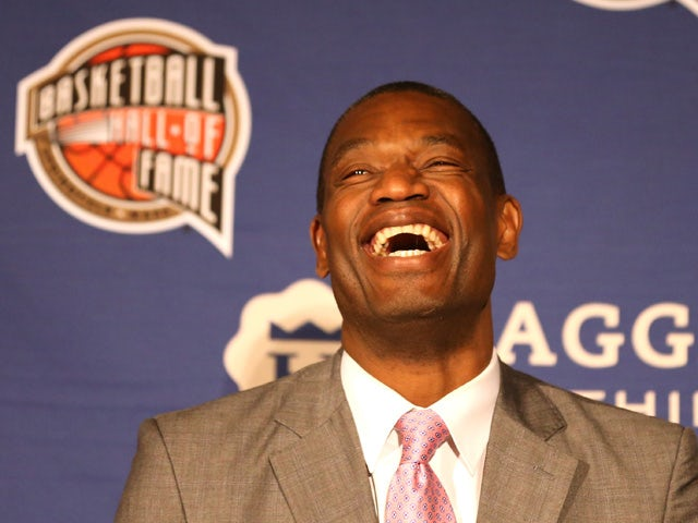 Dikembe Mutombo smiles during the Naismith Memorial Basketball Hall Of Fame 2014 Class Announcement at the JW Marriott on April 6, 2015