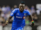 Dominic Oduro #7 of Montreal Impact runs after the ball during the MLS game against the Orlando City SC at the Olympic Stadium on March 28, 2015