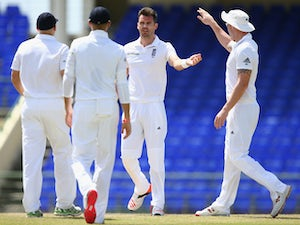 West Indies two wickets down at tea