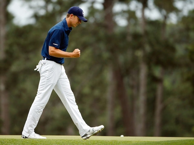 Jordan Spieth on the final day of The Masters on April 12, 2015