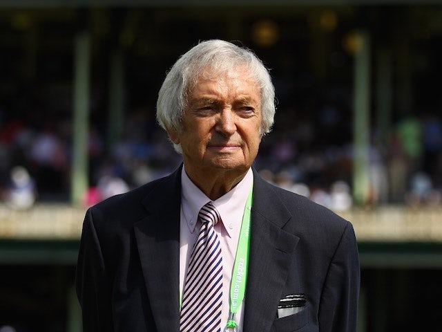 Richie Benaud pictured on January 3, 2013