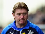 Rangers manager Stuart McCall reacts during the Scottish Championship match between Hibernian and Rangers at Easter Road on March 22, 2015