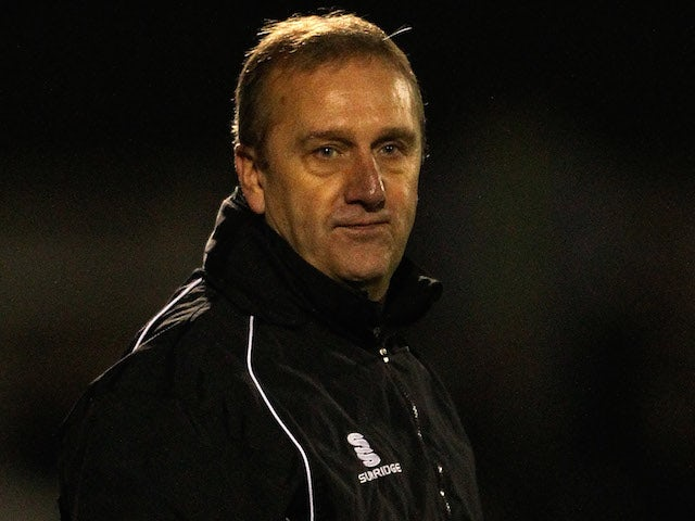 Dartford manager Tony Burman looks on ahead of the Skrill Conference Premier League match between Woking and Dartford at the Kingfield Stadium on November 12, 2013