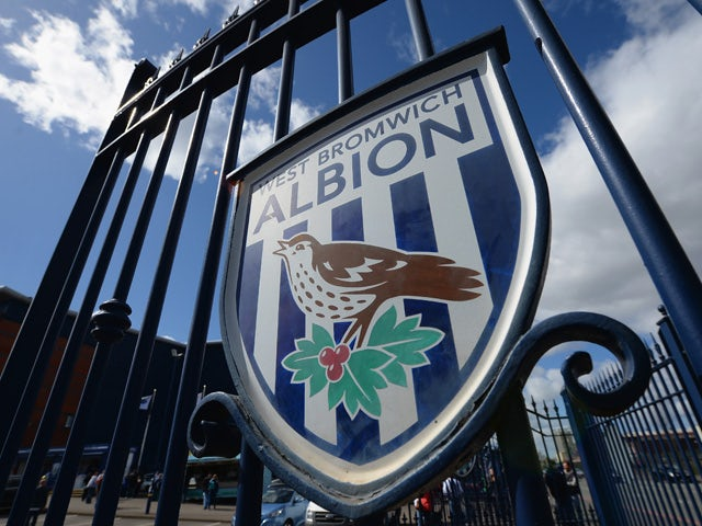 West Bromwich Albion signs are seen on the gates at The Hawthorns ahead of the Barclays Premier League match between West Bromwich Albion and Leicester City at The Hawthorns on April 11, 2015