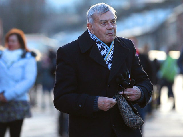 Dickie Bird makes his way to the stadium during the FA Cup Third Round match between Barnsley and Middlesbrough at Oakwell Stadium on January 3, 2015