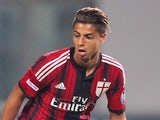 Hachim Mastour of AC Milan in action during the TIM Pre-season Tournament between US Sassuolo, FC Juventus and AC Milan at Mapei Stadium - Citta' del Tricolore on August 23, 2014