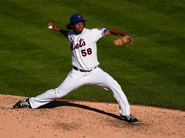 Jenrry Mejia #58 of the New York Mets throws a pitch during a game against the Houston Astros at Citi Field on September 28, 2014