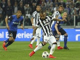 Arturo Vidal of Juventus FC scores the opening goal from the penalty spot during the UEFA Champions League Quarter Final First Leg match between Juventus and AS Monaco FC at Juventus Arena on April 14, 2015