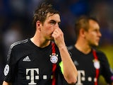 Philipp Lahm of Bayern Muenchen looks dejected during the UEFA Champions League Quarter Final first leg match between FC Porto and FC Bayern Muenchen at Estadio do Dragao on April 15, 2015