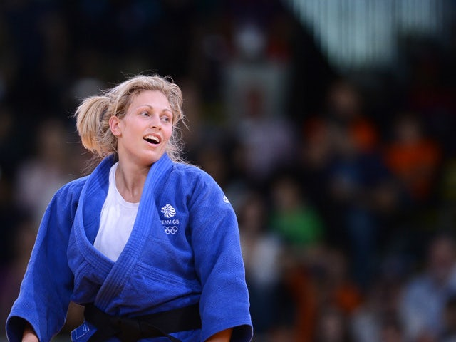 Britain's Gemma Gibbons celebrates after winning against Mongolia's Lkhamdegd Purevjargal during their women's -78kg judo contest match of the London 2012 Olympic Games on August 2, 2012