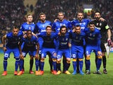 The Juventus team line up during the UEFA Champions League quarter-final second leg match between AS Monaco FC and Juventus at Stade Louis II on April 22, 2015