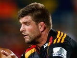 Mike Fitzgerald of the Chiefs during the round three Super Rugby match between the Chiefs and the Crusaders at Waikato Stadium on February 28, 2015
