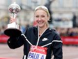 Paula Radcliffe of Great Britain receives the inaugural John Disley London Marathon Lifetime Achievement Award during the Virgin Money London Marathon on April 26, 2015