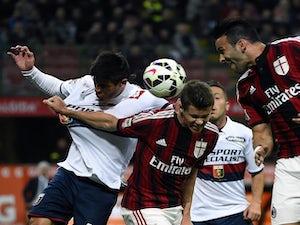 Genoa beat 10-man AC Milan