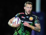 Byron McGuigan of Exeter Chiefs in action during the European Rugby Challenge Cup match between Exeter Chiefs and Newcastle Falcons at Sandy Park on April 4, 2015