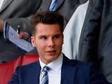 Chairman David Sharpe of Wigan watches on before the Sky Bet Championship match between Wigan Athletic and Brighton & Hove Albion at the DW Stadium on April 18, 2015