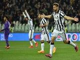 Fernando Llorente of Juventus FC celebrates his goal during the Serie A match between Juventus FC and ACF Fiorentina at Juventus Arena on April 29, 2015
