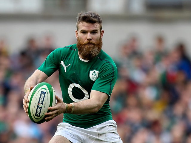 Gordon D'arcy of Ireland in action during the RBS Six Nations match between Ireland and Italy at Aviva Stadium on March 8, 2014