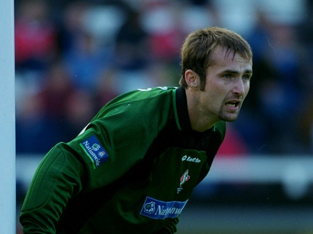 Jimmy Glass in goal for Swindon Town against Fulham during the Nationwide Division One match at Craven Cottage in London on October 16, 1999