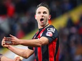 Marc Pugh celebrates opening the scoring for Bournemouth on April 27, 2015