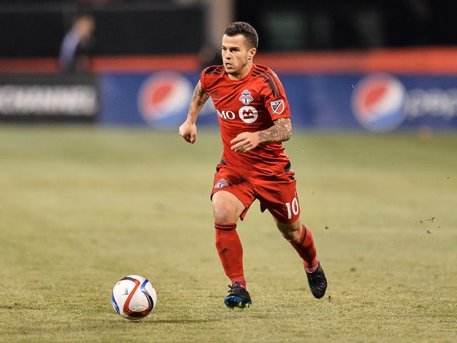 Sebastian Giovinco #10 of the Toronto FC in action against the Columbus Crew SC on March 14, 2015