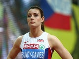 Seren Bundy-Davies of Great Britain & Northern Ireland competes in the Women's 400 metres Final during day two of the 2015 European Athletics Indoor Championships at O2 Arena on March 7, 2015