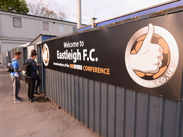 Fans arrive for the Vanarama Football Conference League play off 1st leg match between Eastleigh FC and Grimsby Town at Silverlake Stadium on April 30, 2015