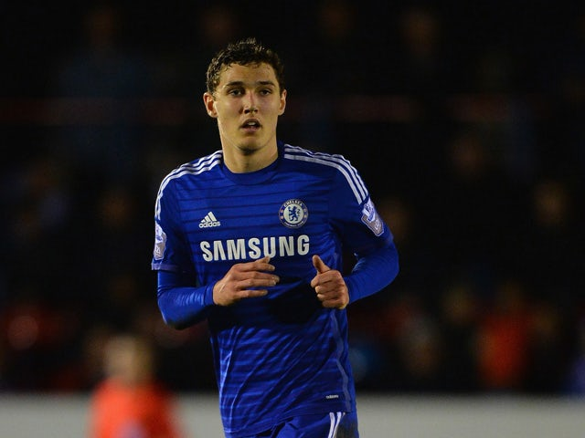 Andreas Christensen of Chelsea during the Round of 16 in the UEFA Youth League match between Chelsea Fc and FC Zenit at the ESS Stadium on February 25, 2015