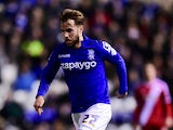 Birmingham City's Andrew Shinnie in action during a Championship encounter with Middlesbrough on February 18, 2015