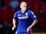 Birmingham City's David Cotterill carries the ball forward during a Championship match against Charlton Athletic on October 4, 2014