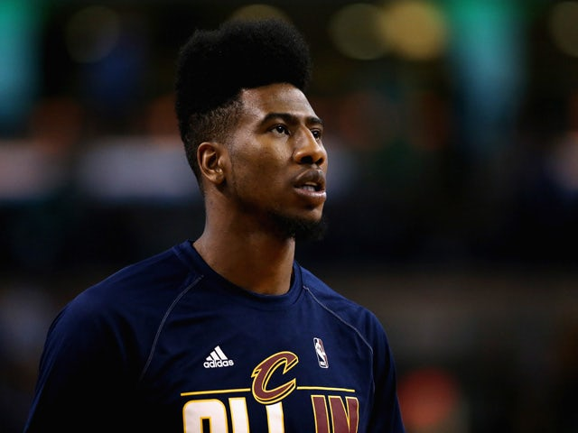 Iman Shumpert #4 of the Cleveland Cavaliers looks on before the game against the Boston Celtics in the first round of the 2015 NBA Playoffs at TD Garden on April 23, 2015
