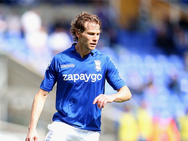 Jonathan Spector of Birmingham City collects the ball during a Championship match against Brighton & Hove Albion on August 16, 2014