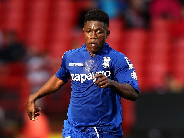 Birmingham City's Koby Arthur carries the ball forward during a Championship encounter with Charlton Athletic at The Valley on October 4, 2014
