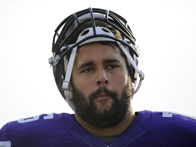 Matt Kalil #75 of the Minnesota Vikings looks on before the game against the Oakland Raiders on August 8, 2014